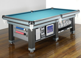 Heiron Smith - The Executive :  entertainment center italian slate executive pool table